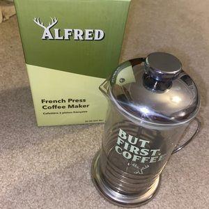 BNIB Alfred French Press Coffee Maker